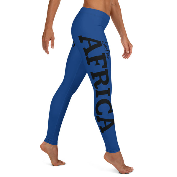 AFRICA By SooFire Leggings (BLUE)