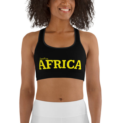New AFRICA by SooFire Sports bra (Yellow/Black)