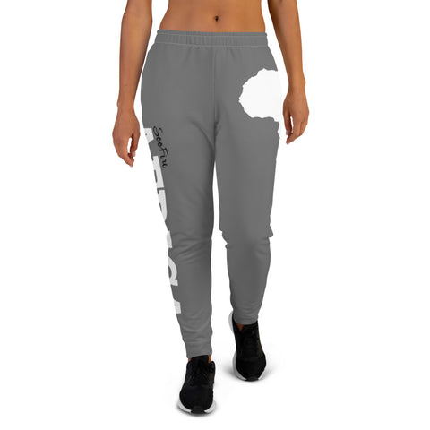 Women's AFRICA Joggers (White/Grey)