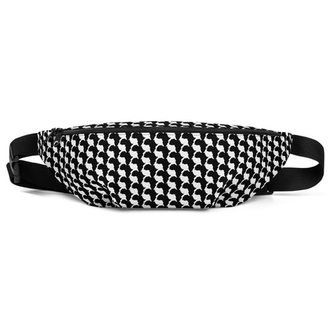 AFRICA CONTINENT Fanny Pack by SooFire  (Black & White)