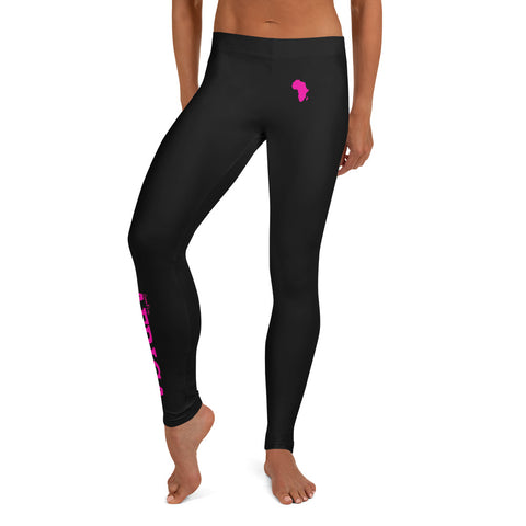 New AFRICA By SooFire Leggings (Fuschia/Black) *Black Stitches