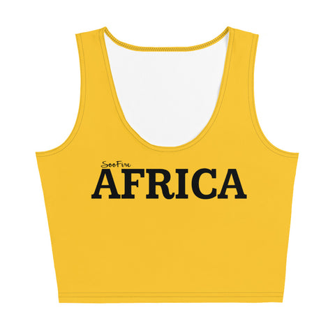 AFRICA Sublimation Cut & Sew Crop Top Style 2 (YELLOW)