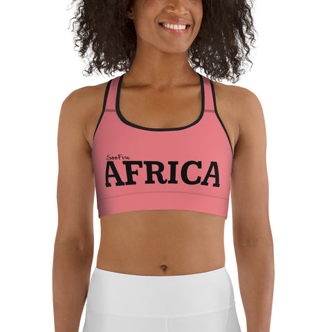 AFRICA By SooFire Sports bra  (PINK)