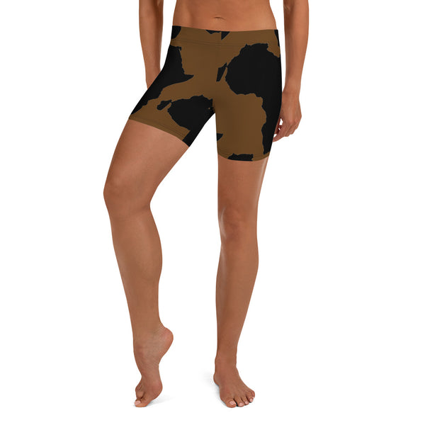 AFRICA is a CONTINENT Shorts by SooFire Style 2 (BROWN)
