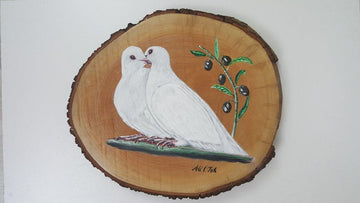 Decorative art: A Double Peace Pigeons