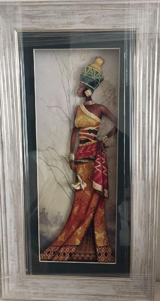 Decorative art: African Girl Relief