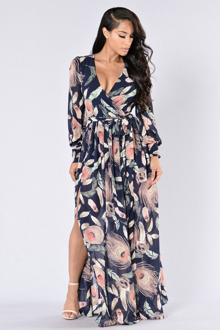 Brunch Date Dress - Navy