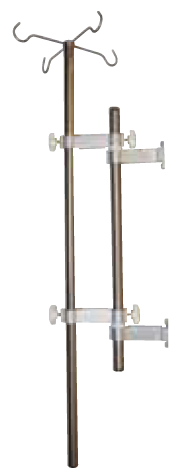Vertical Iv Rods with Support Legs