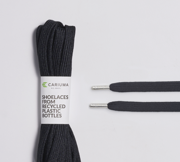 Shoe Lace Black with H Silver Tip