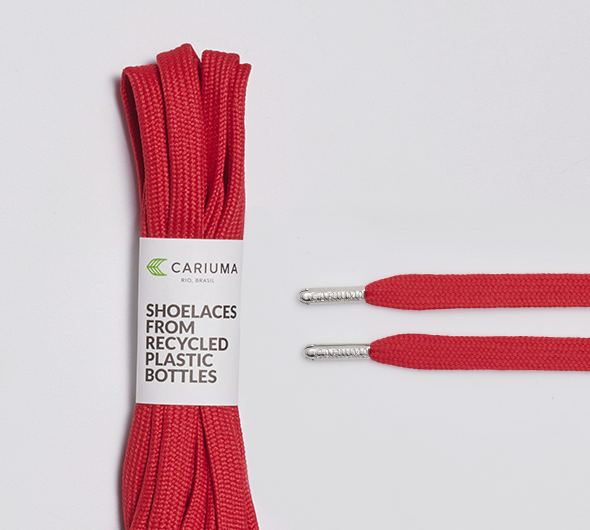 Shoe Lace Red with H Silver Tip