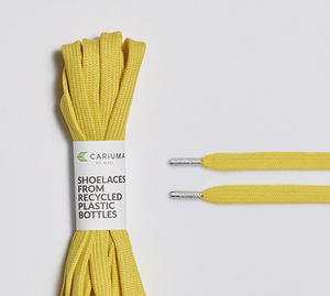 Shoe Lace Yellow with H Silver Tip