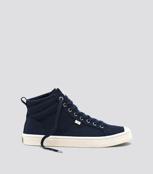 OCA High 帆布鞋(深蓝色)男士 (navy blue canvas sneaker Men)