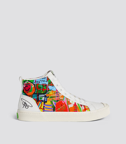 JPO艺术限量版 女士 (Off White JPO Art Canvas Sneaker Women)