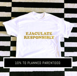 """RESPONSIBLY"" TEE - HAND CUT CROP OR CLASSIC FIT"