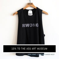 """RWONG"" LADIES CROPPED RACERBACK COLLAB TANK"