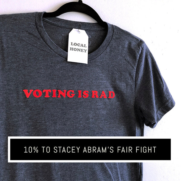 """VOTING IS RAD"" UNISEX GRAPHIC TEE"