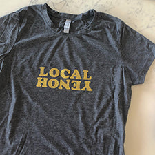 """LOCAL HONEY"" GLITCH TEE - OPTIONS!"