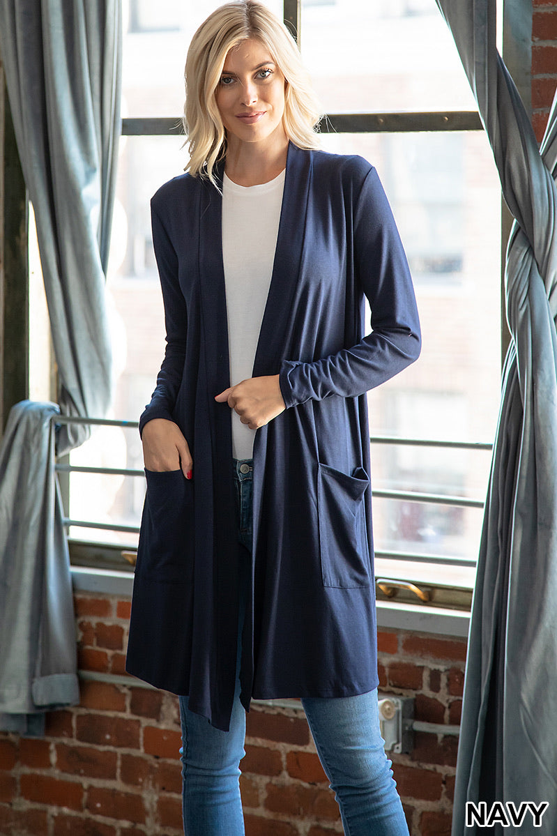 Navy cover up with pockets