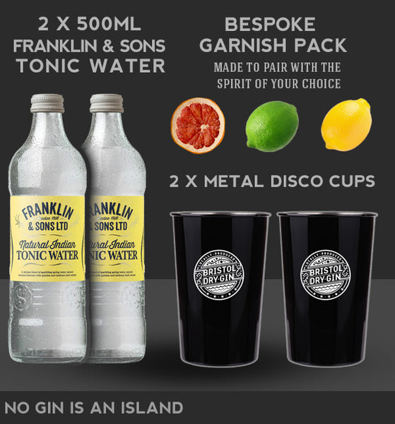 Tonic water and garnish Pack
