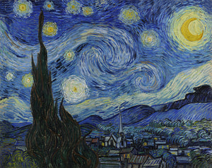 Starry Night Canvas Wall Art Gallery Wrap By Vincent Van Gogh