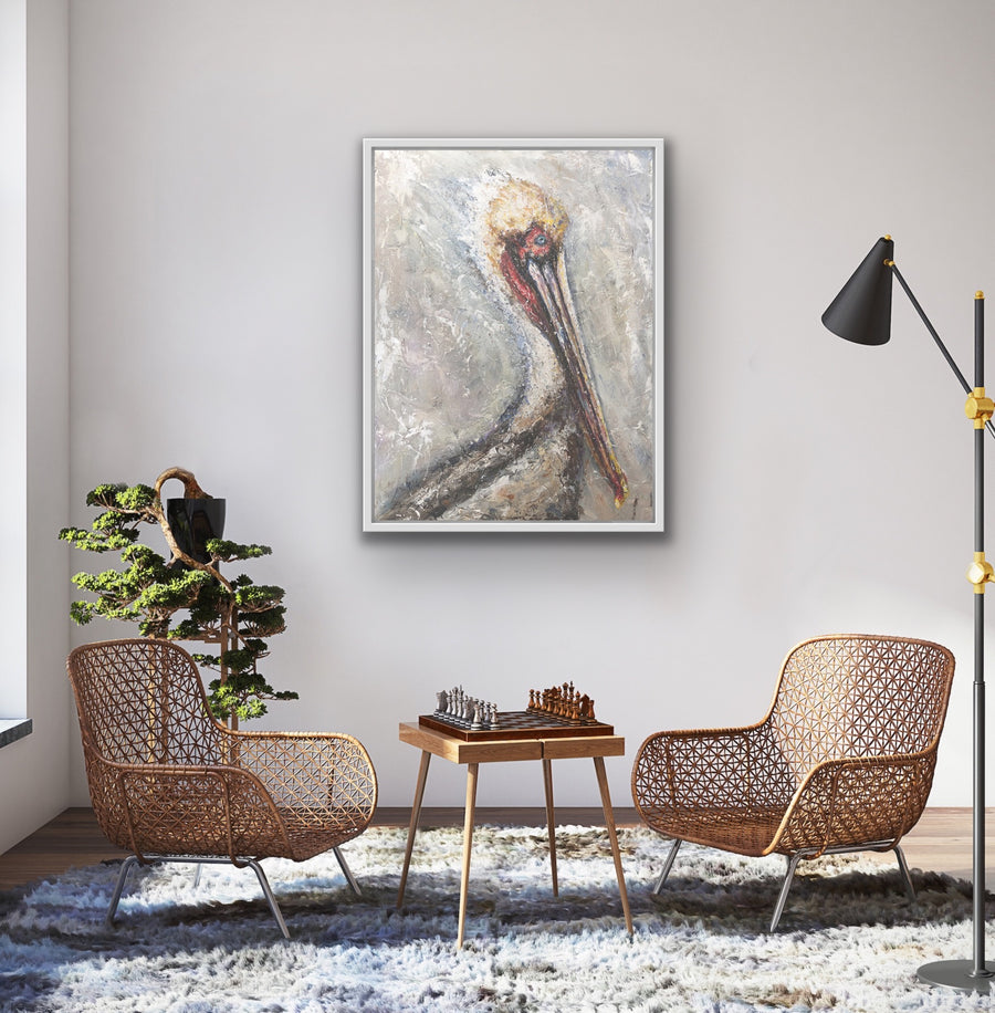 'Pelican''  Canvas Print Open Edition by Artist Jody Barrilleaux