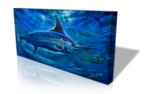 'Chasin Tail'    Canvas Print Lifetime Open Edition by Artist Jody Barrilleaux