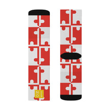 Load image into Gallery viewer, MVP Maryland Flag Sublimation Socks