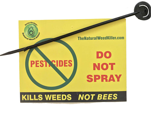 Doctor Kirchner Yard Sign Do Not Spray with Stake 8.5 x 11