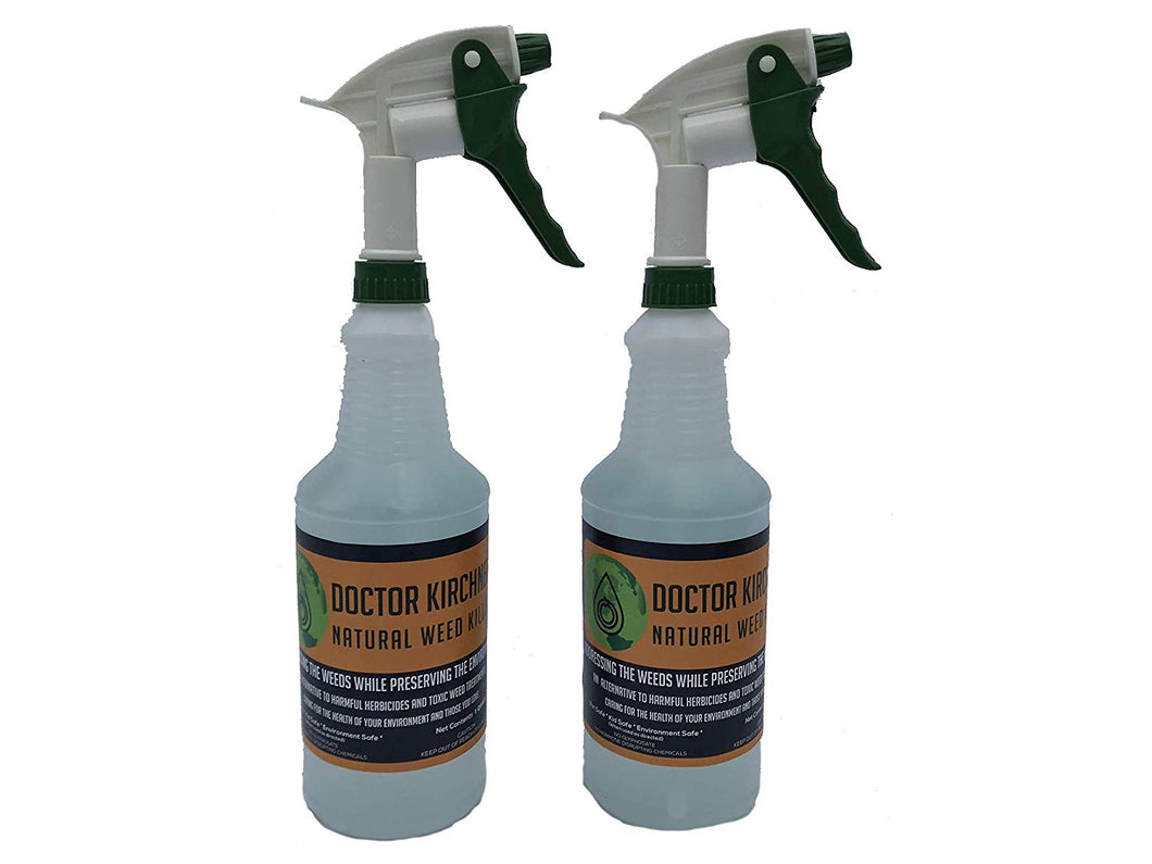 Doctor Kirchner Natural Weed Killer (Quart 2 Pack) No Glyphosate and No Hormone Disrupting Chemicals
