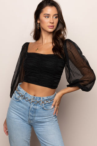 Camden Crop in Black