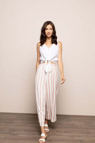 Blush Striped Pants in Blush
