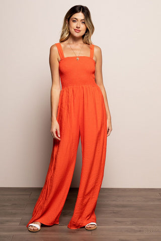 Penelope Jumpsuit in Coral