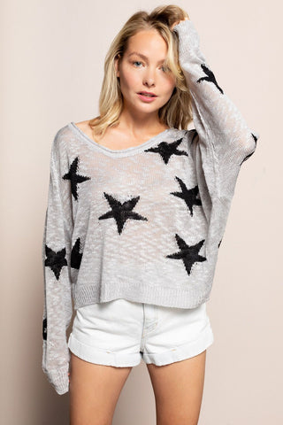 Star Sweater in Gray