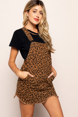 Animal Print Overall Dress in Multicolor