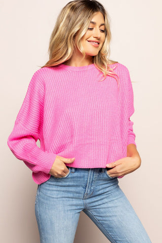 Hot Pink Sweater in Pink