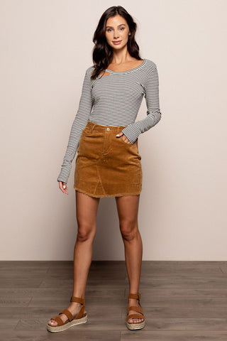 Daphne Skirt in Tan