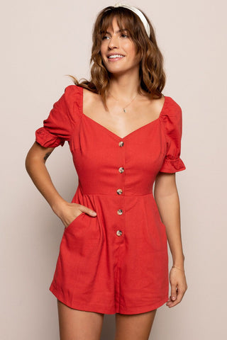 Serena Romper in Red