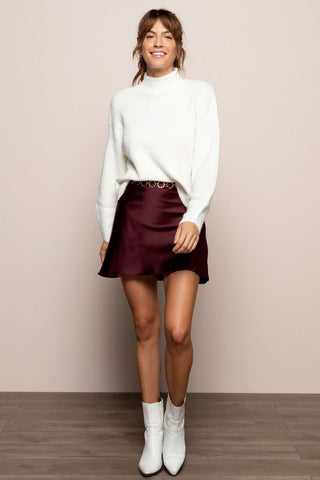 Zinnia Skirt in Burgundy