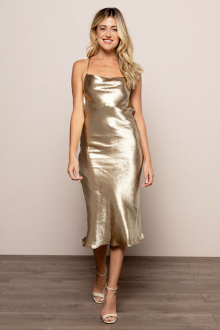 Night Out Midi in Gold