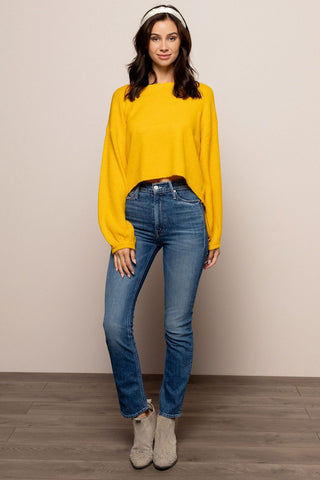 Mimosa Please Sweater in Yellow