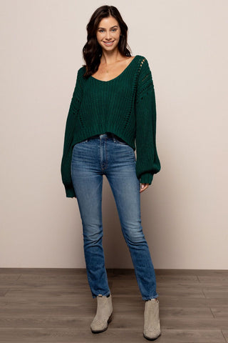 Rory Sweater in Emerald