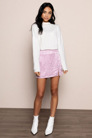 Monica Mini Skirt in Pink