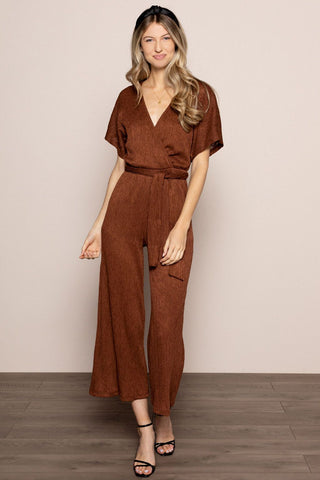 Alondra Jumpsuit in Cappucinno