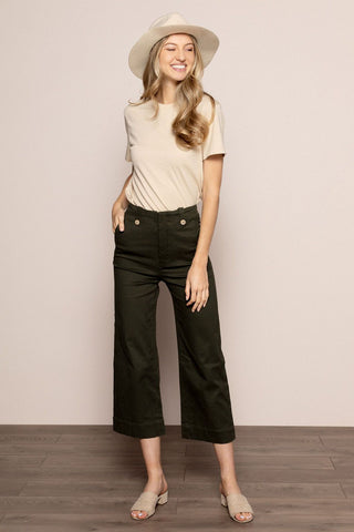 Gwenyth Pant in Olive