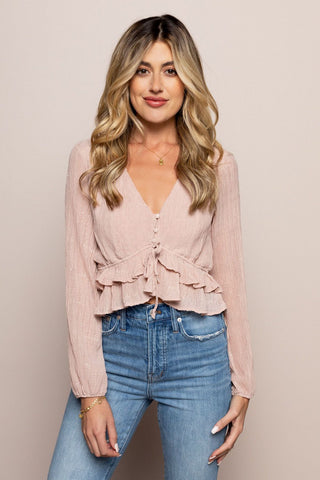 Skylar Crop in Pink