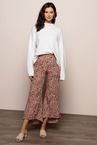 Iris Animal Print Pants in Pink