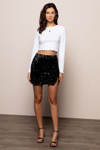 Disco Mini Skirt in Black