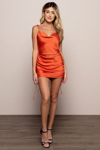 Clementine Dress in Orange