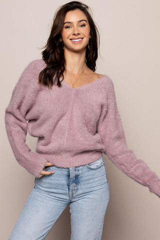 Lover Lay Down Sweater in Lilac