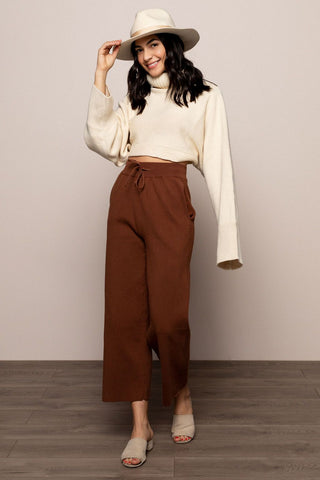 Calia Knit Pants in Brown